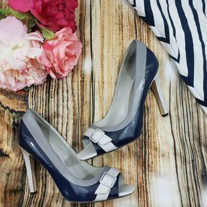 Shoe Dazzle Dara Women Pumps Size 9 M Blue Silver